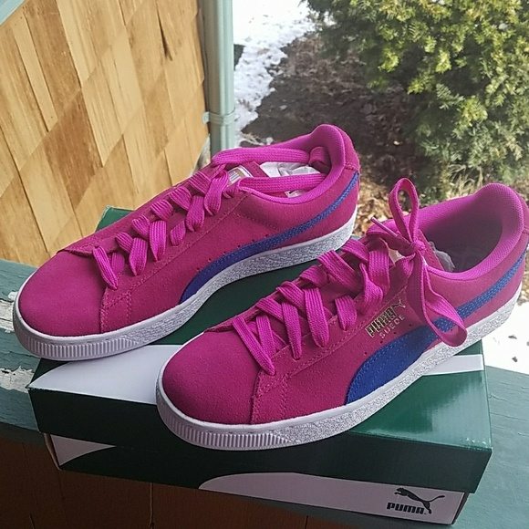 Brand new Puma hot pink suede sneakers a6c323c592